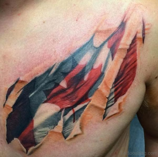 Amazing Flag Tattoo