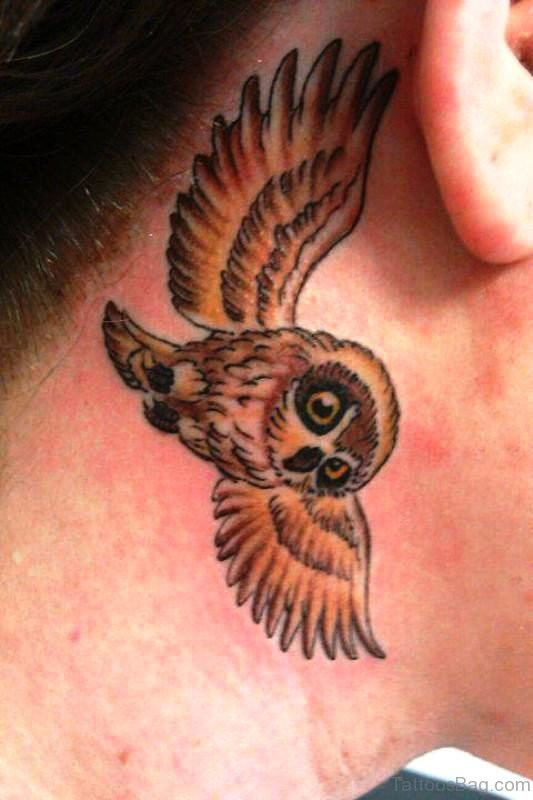 Amazing Flying Owl Tattoo