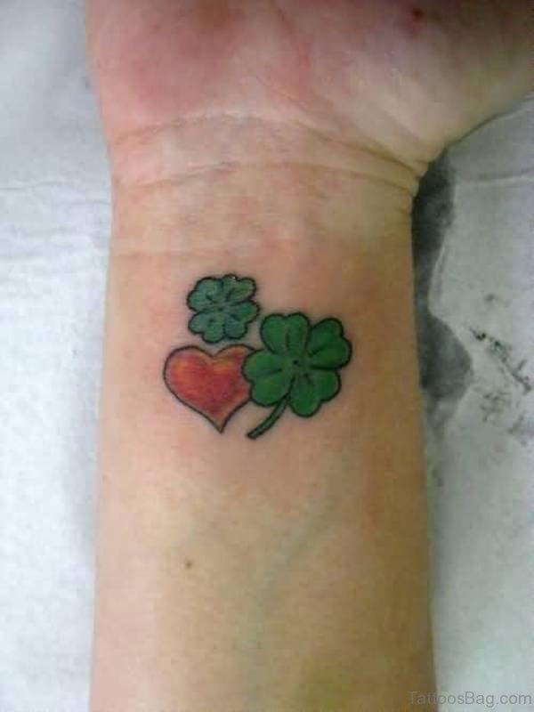 Amazing Four Leaf Wrist Tattoo