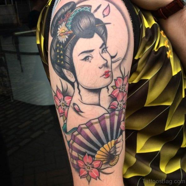 Amazing Geisha Tattoo