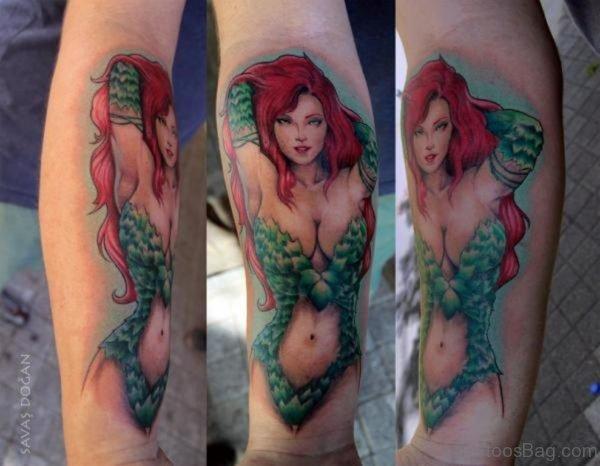 Amazing Girl Portrait Tattoo Design