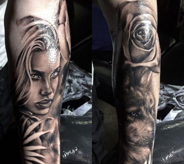 Amazing Girl Portrait Tattoo Designs