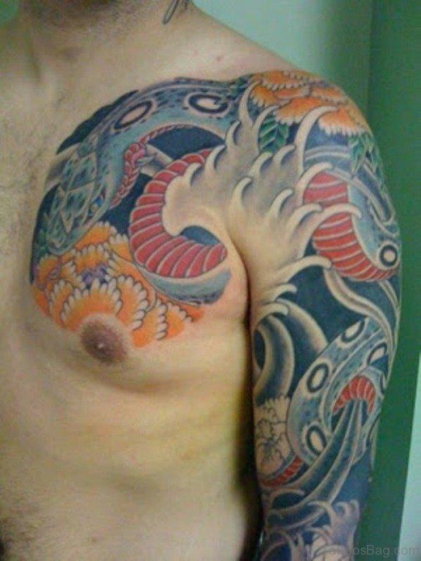 Amazing Japanese Shoulder Tattoo