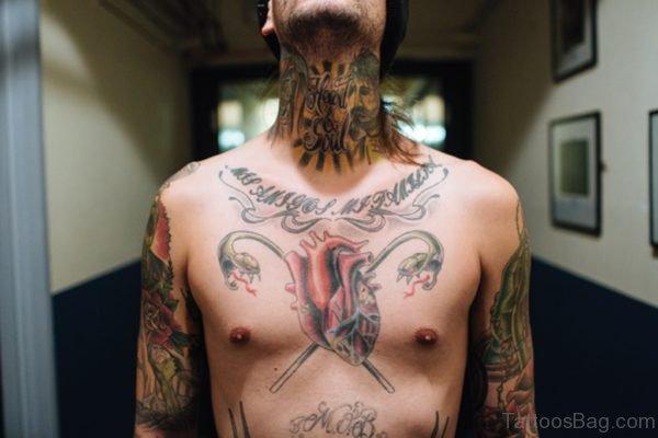Amazing Jesus Neck Tattoo