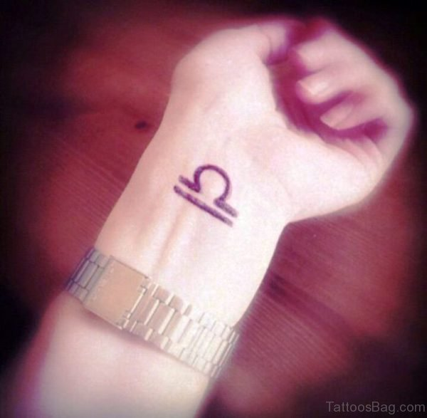 Amazing Libra Tattoo On Wrist
