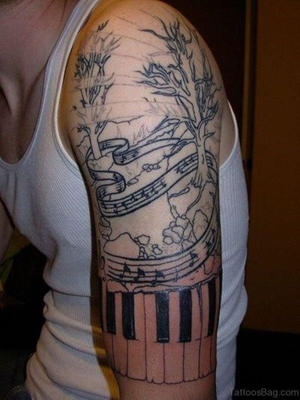 Amazing Music Tattoo Design