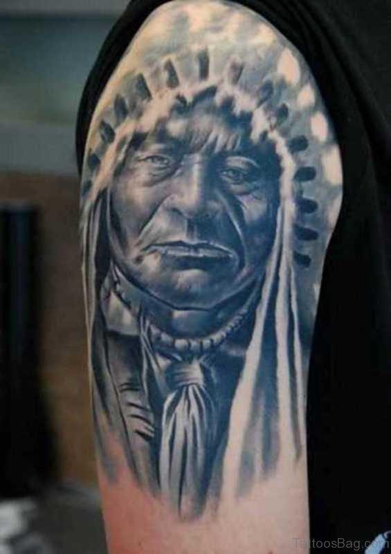 Amazing Native American Tattoo