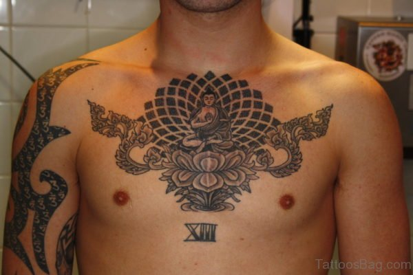Amazing Religious Tattoo On Chest