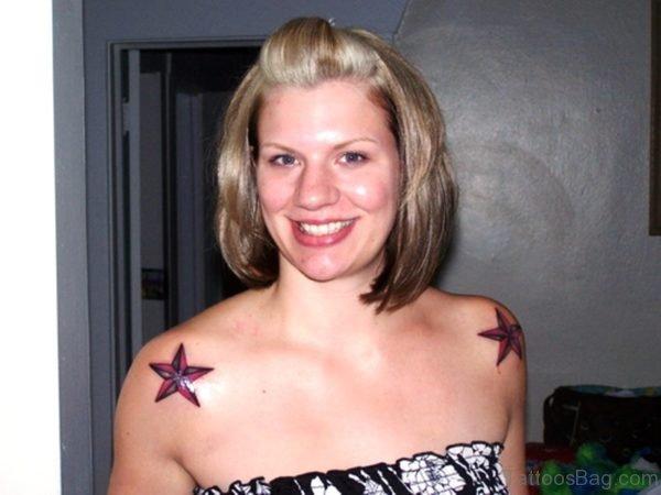 Amazing Star Shoulder Tattoo