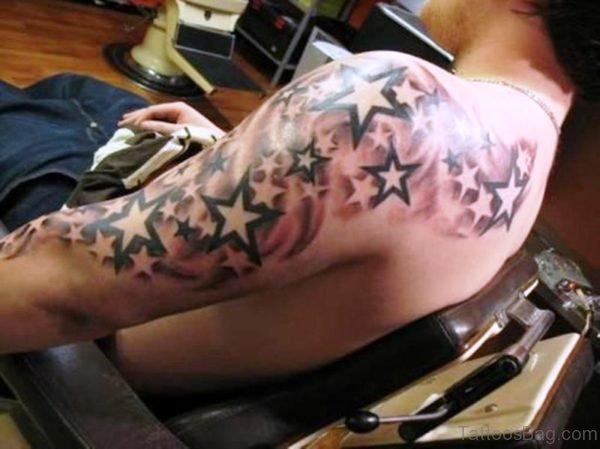 Amazing Star Tattoo Design