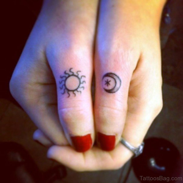 Amazing Sun And Moon Tattoo