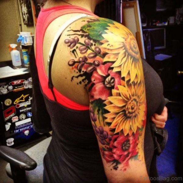 Amazing Sunflower Tattoo