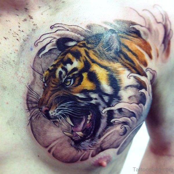 Amazing Tiger Face Tattoo