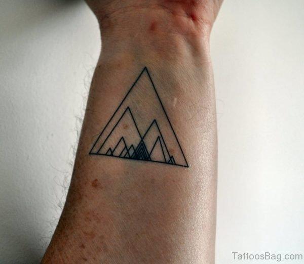 Amazing Triangle Tattoo Design For Wrist