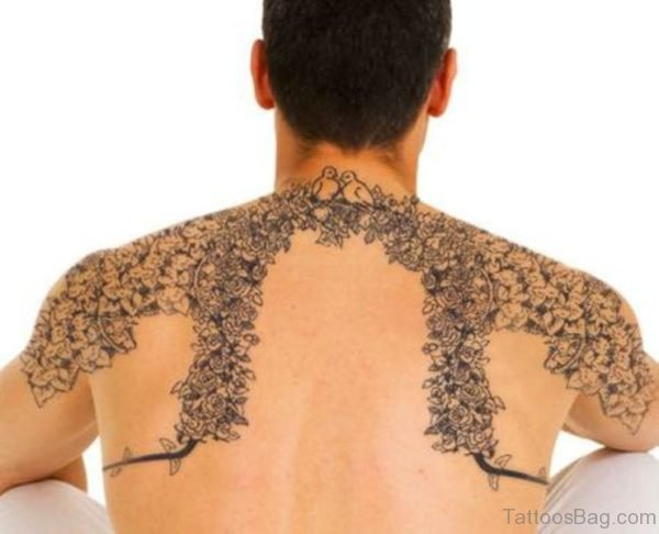 Amazing Vine Neck Tattoo Design