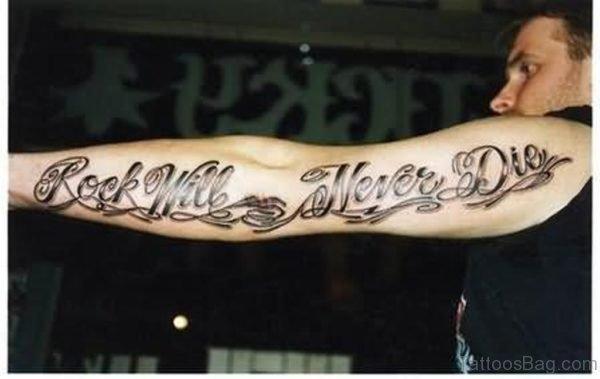 Amazing Wording Tattoo