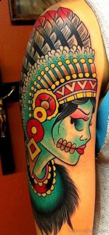 American Zombie Girl Tattoo
