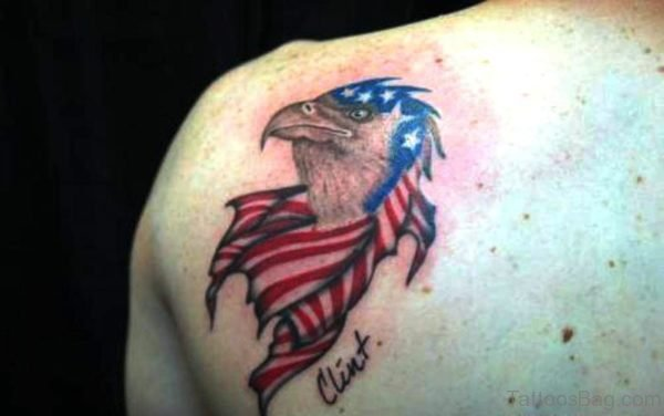American Eagle Shoulder Tattoo