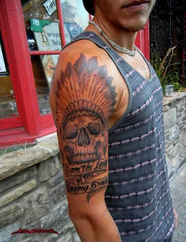 American Native Skull Tattoo