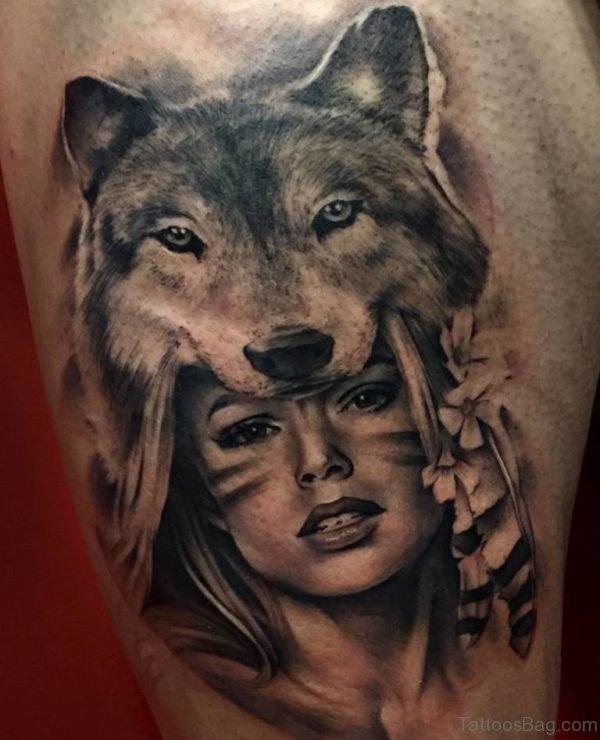 American Wolf Tattoo