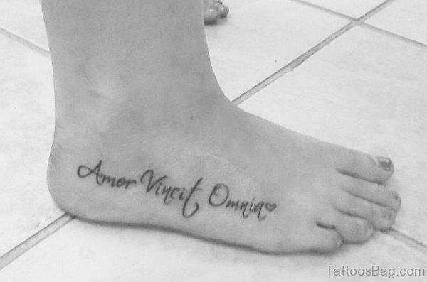 Amor Vincit Omnia Word Tattoo