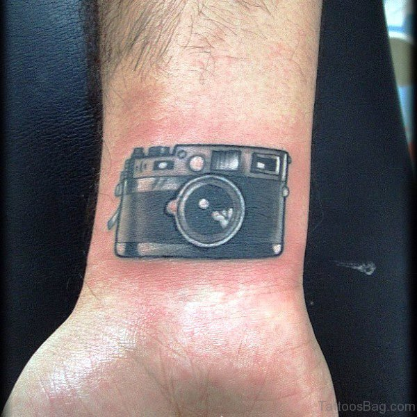 Amazing Camera Wrist Tattoo