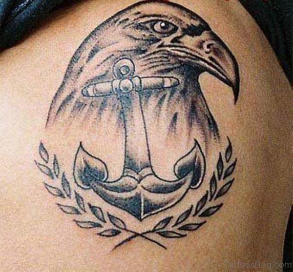 Anchor And Eagle Tattoo