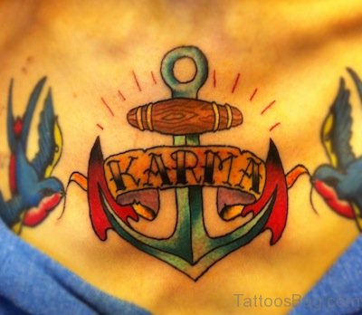 Anchor Chest Tattoo Image