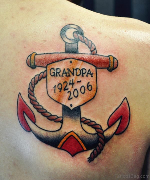 Anchor Grandpa Tattoo