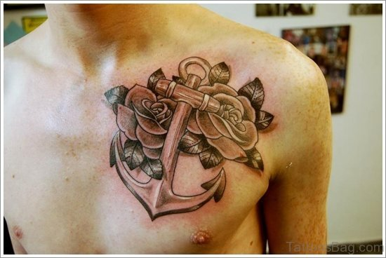 Anchor Tattoo Design On Chest