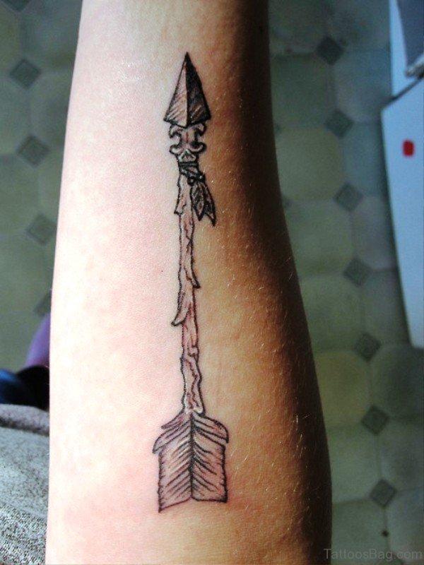 Ancient Arrow Tattoo Design