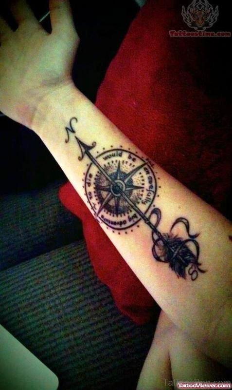 Ancient Arrow Tattoo On Arm