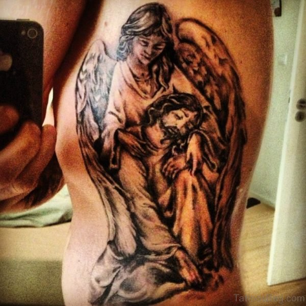 Angel And Jesus Tattoo