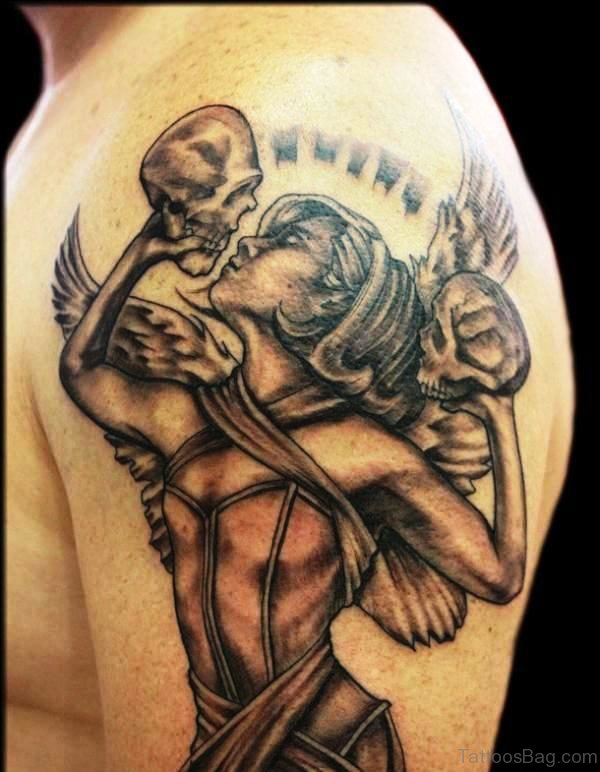 Angel And Skull Tattoo