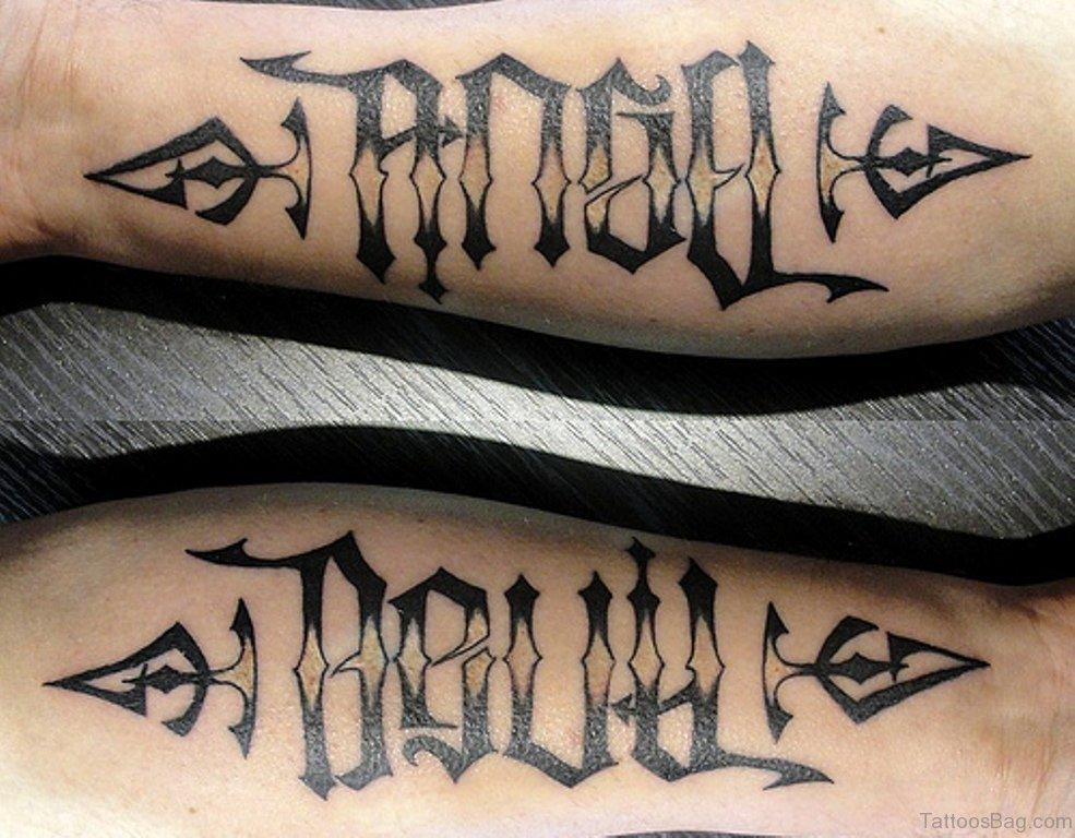 Join. Devil fucking angel tattoo opinion