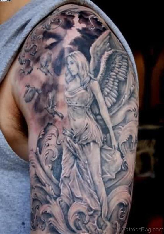 Angle Shoulder Half Sleeves Tattoo