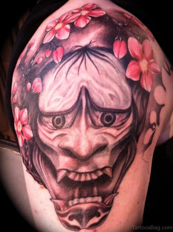 Angry Devil Mask Tattoo