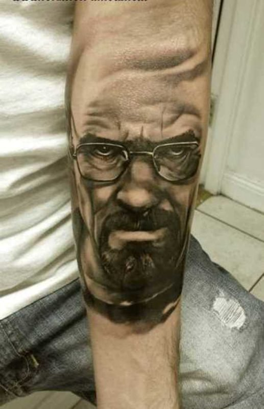 Angry Man Face Tattoo