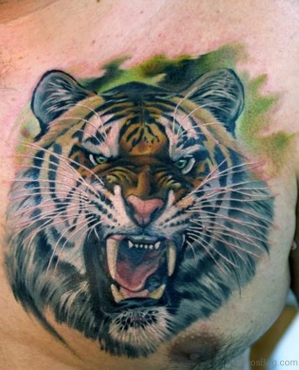 d8b23b43495cf 71 Stylish Tiger Tattoo On Chest