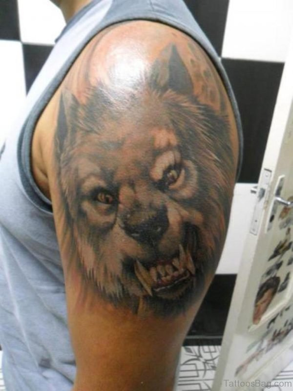 Angry Wolf Tattoo