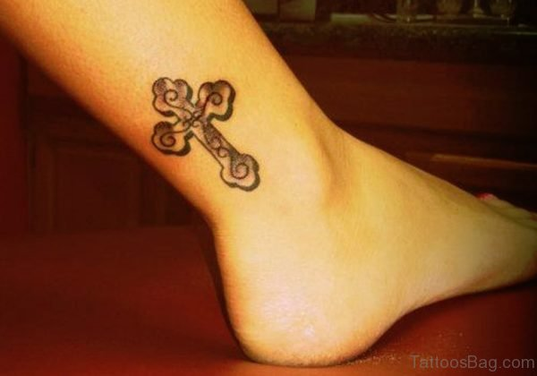 Ankle Cross Tattoo