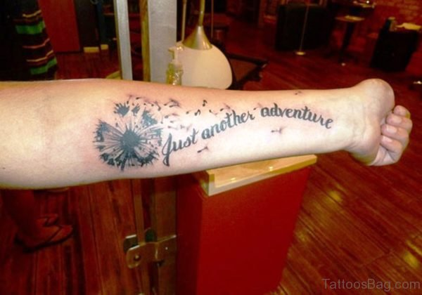 Another Adventure Dandelion Wrist Tattoo