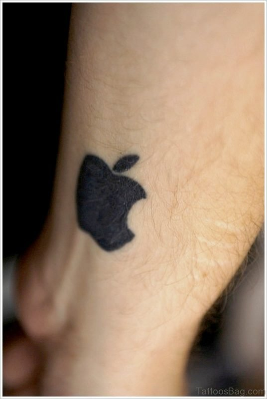 Apple Logo Tattoo On Wrist