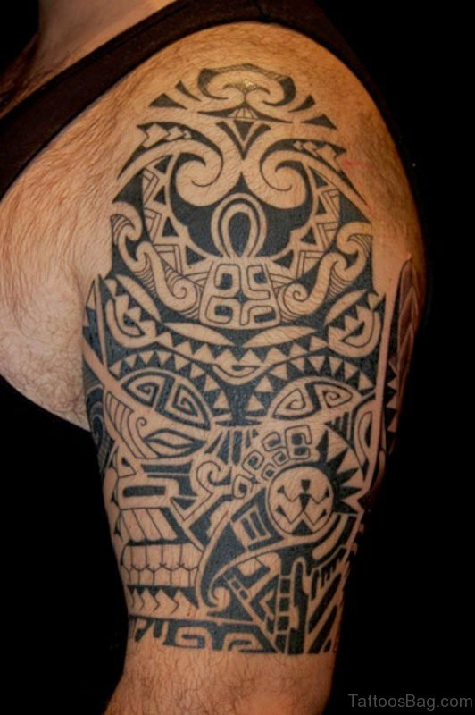 Arm Half Sleeve Samoan Tattoo