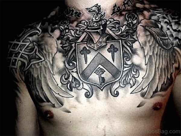Armor Chest Tattoo