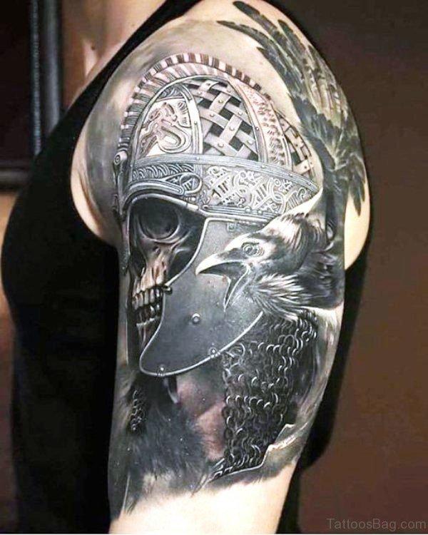 Armor Skull Tattoo
