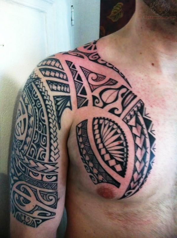 Armour Tattoo On Chest Image