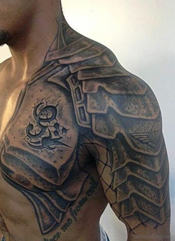 Stylish Armor Tattoo