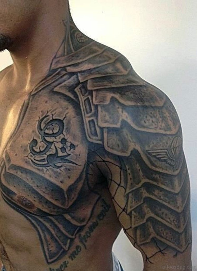 3c5213f90 55 Great Armor Tattoos For Chest