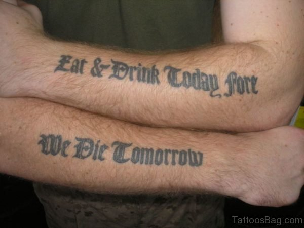 Army Wording Tattoo On Arm